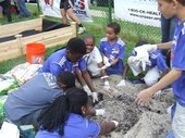 Soccer for Success Tackles Gardening at Stetser Elementary School