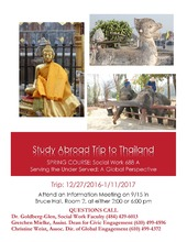Study Abroad Course to Thailand!